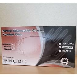 Gants Nitrile Gloves 100 pces, non poudrés, S