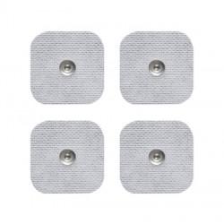 4 électrodes carrées 5x5cm SNAP