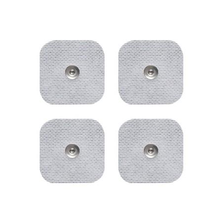 4 électrodes carrées 5x5cm, SNAP, à gel japonais