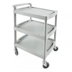 Guéridon - chariot PVC 3 plateaux